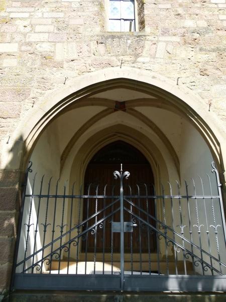 Hauptportal der Michaelskirche Hilsbach von 1509