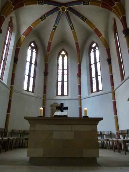 Chor der Michaelskirche Hilsbach (Innengewölbe von ca. 1300)
