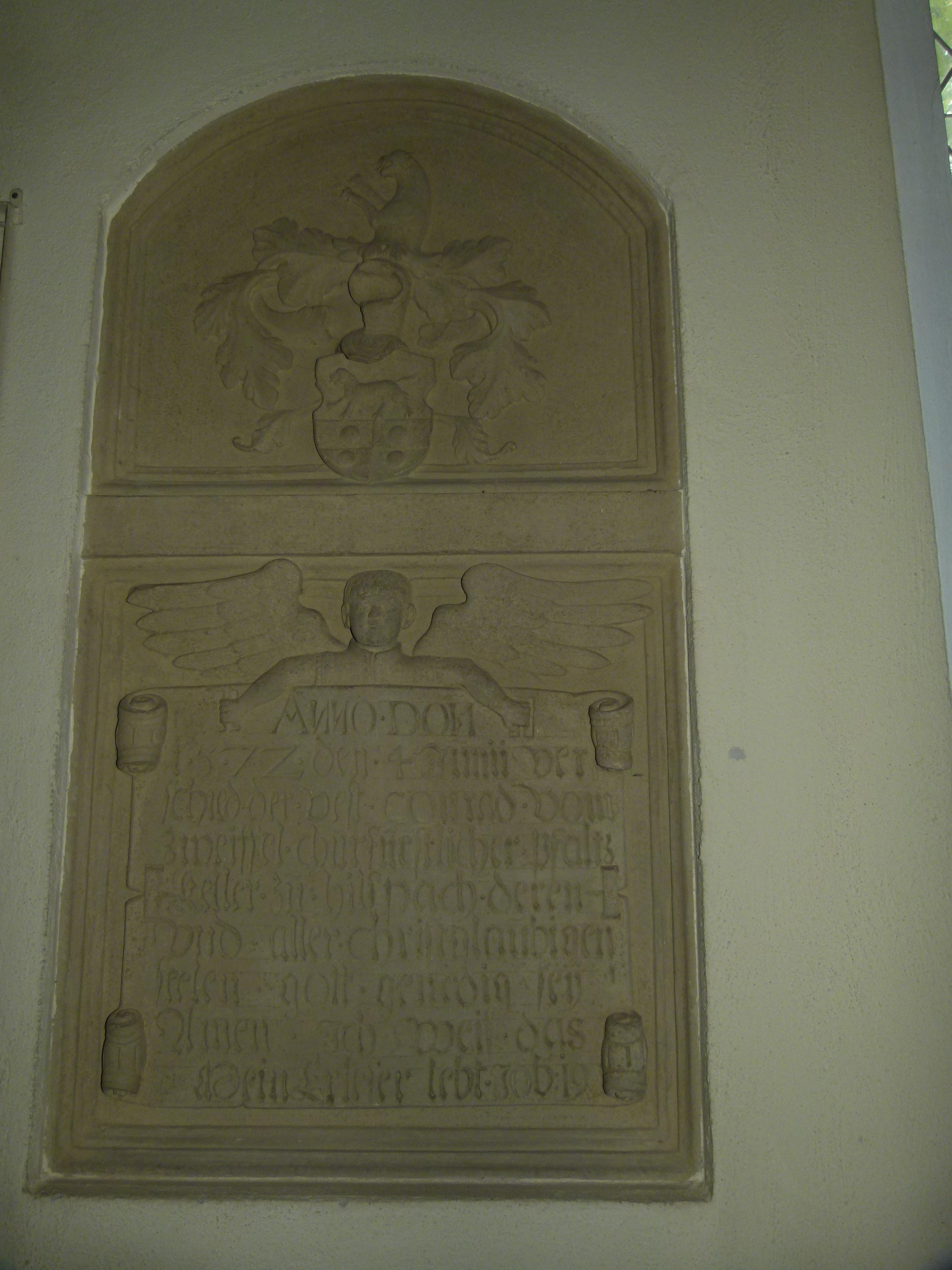 Grabmal in der Michaelskirche Hilsbach (Conrad von Zweiffel 1572)