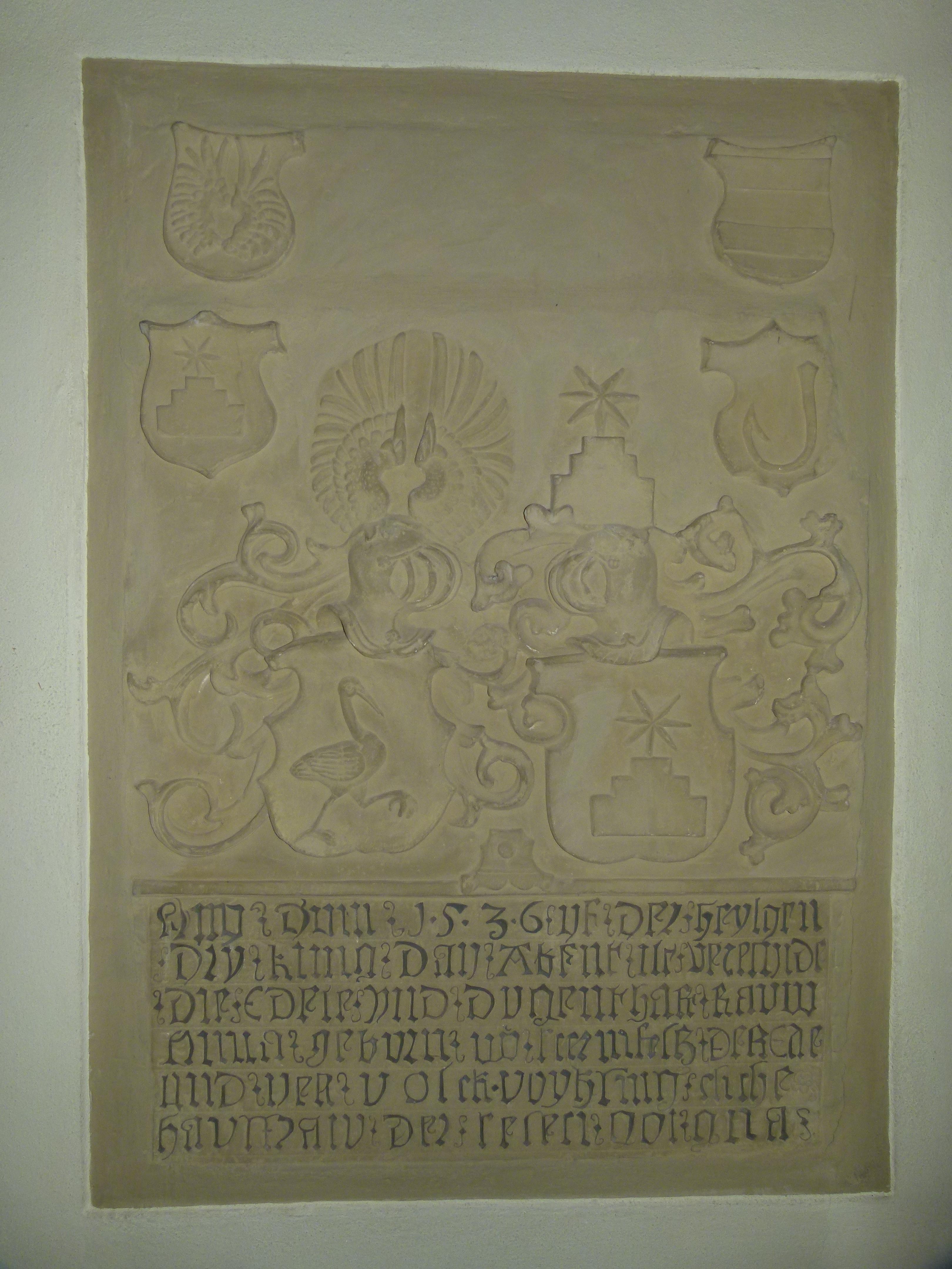 Grabmal in der Michaelskirche Hilsbach (Anna, geb. von Sternenfels 1536)