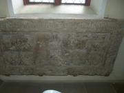 Grabmal in der Michaelskirche Hilsbach (Anna von Venningen 1405)